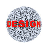 3d design - alphabet letter character sphere ball Royalty Free Stock Photos