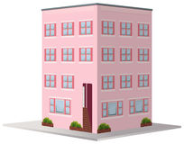 3D design for apartment building. Illustration Royalty Free Stock Photography