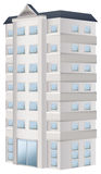 3D design for apartment building. Illustration Stock Photo