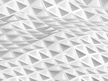 3d design background with white polygonal triangle mesh Stock Photo