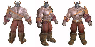 3D design of barbarian  Stock Photography