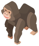 3D design for big orangutan Royalty Free Stock Photography