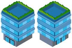 3D design for blue building Stock Image