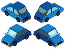 3D design for blue car. Illustration Royalty Free Stock Photography