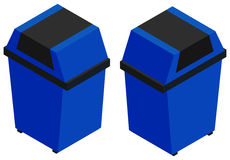 3D design for blue trashcan Royalty Free Stock Photos