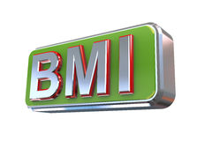 3d design of bmi - Body Mass Index. 3d illustration concept presentation of bmi - Body Mass Index Royalty Free Stock Photography