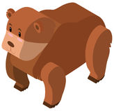 3D design for brown bear Royalty Free Stock Image