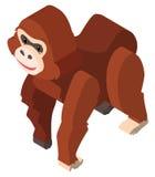 3D design for brown orangutan Stock Photography