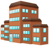 3D design for building in brown color. Illustration Royalty Free Stock Photos