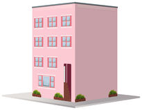 3D design for building painted in pink. Illustration Stock Photography