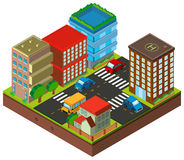 3D design for buildings in the city. Illustration Stock Photo