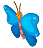 3D design for butterfly with blue wings Stock Photography