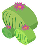 3D design for cactus plant. Illustration Royalty Free Stock Image