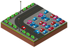 3D design for carpark around the corner Royalty Free Stock Photos