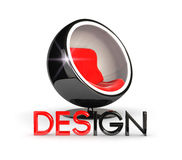 3d design chair Stock Photos