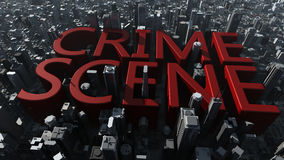 Crime scene city Royalty Free Stock Image