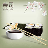 3D design concept, invitations, advertising, poster sushi restaurant. Royalty Free Stock Photos