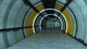 Futuristic corridor Royalty Free Stock Images