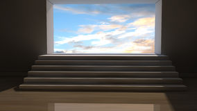 3d stairs and sky Royalty Free Stock Photos