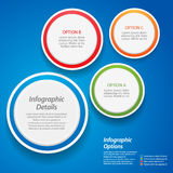 3d design element background on blue Royalty Free Stock Images