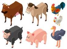 3D design for farm animals. Illustration Stock Photos