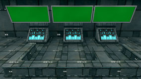 Futuristic 3d green screen Royalty Free Stock Images