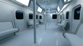 Futuristic metro interior Stock Images