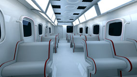Futuristic metro interior Stock Photos