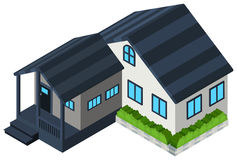 3D design for gray house Stock Images