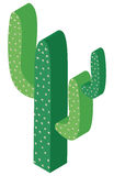 3D design for green cactus plant Royalty Free Stock Photo