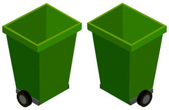 3D design for green trashcans Royalty Free Stock Photos