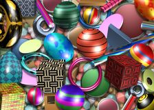3d design illustration. Metallic shape Royalty Free Stock Image