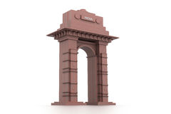 3d design of India gate Royalty Free Stock Images