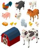 3D design for many types of farm animals. Illustration Stock Photos