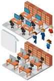 3D design for people working in office. Illustration Royalty Free Stock Photo