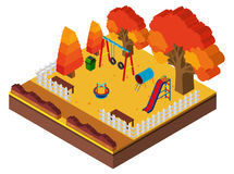 3D design for playground in autumn. Illustration Stock Photography