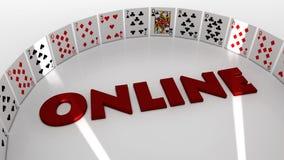Poker online Stock Image