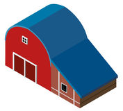 3D design for red barn Stock Photo