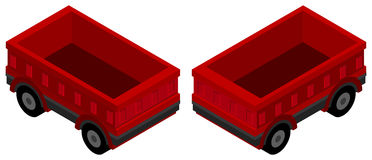 3D design for red wagons Stock Images