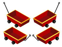 3D design for red wagons Royalty Free Stock Photos