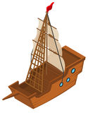 3D design for sailing ship royalty free illustration
