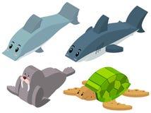 3D design for sea animals. Illustration Stock Photos
