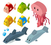 3D design for sea animals. Illustration Royalty Free Stock Image