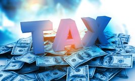 3d design of Tax Concept. Digital illustration Stock Photo