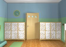 3D design. Toddlers' room Stock Image
