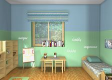 3D design. Toddlers' room Royalty Free Stock Photography