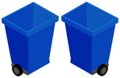 3D design for trashcan with wheels. Illustration Royalty Free Stock Photo