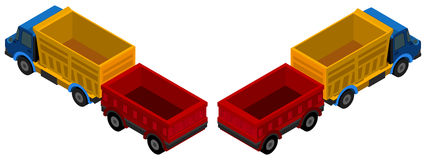 3D design for trucks with wagons Royalty Free Stock Photos