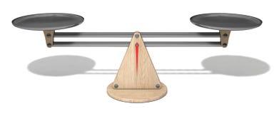 3d Design von einfachen Skalen, ausgeglichene Version Stockfoto