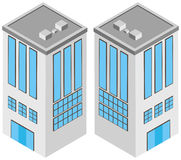 3D design for white building with many windows. Illustration Stock Photography